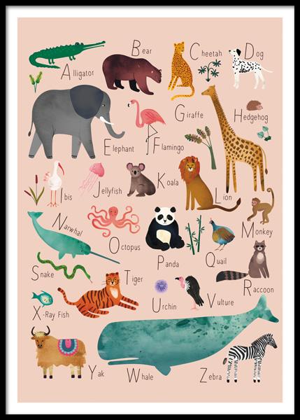Alphabet Animals 1 Poster