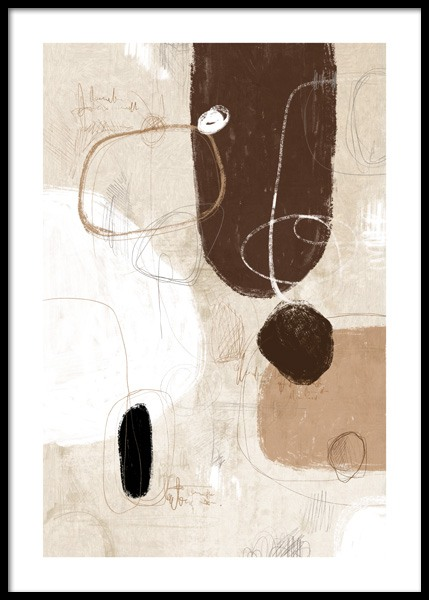 Art Shapes No1 Poster in the group Posters & Prints / Art prints at Desenio AB (14889)