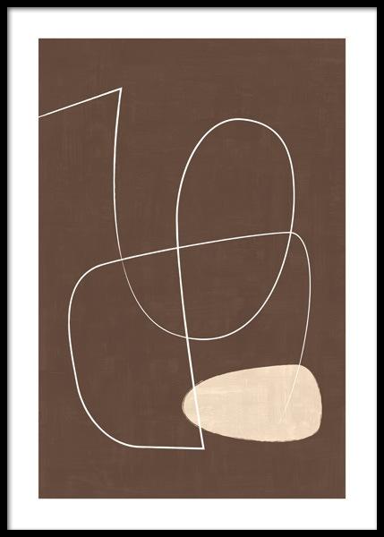 Chestnut Brown Line Poster