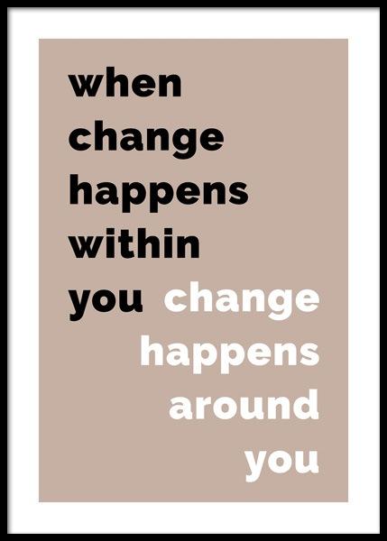 When Change Happens Poster