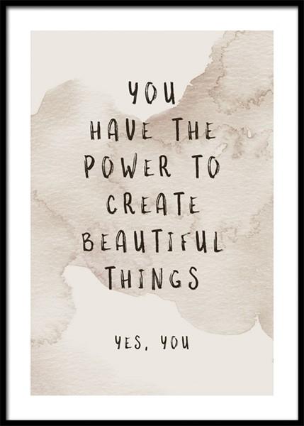 Create Beautiful Things Poster