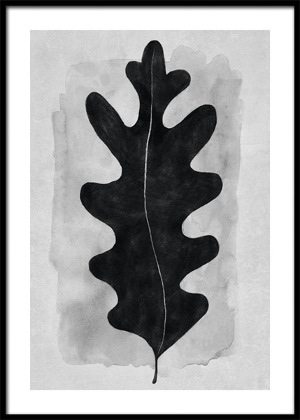 Black Oak Leaf Poster