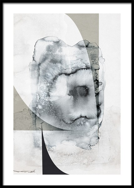 Ink Splash Abstract No1 Poster