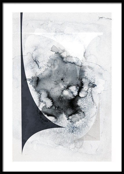Ink Splash Abstract No2 Poster