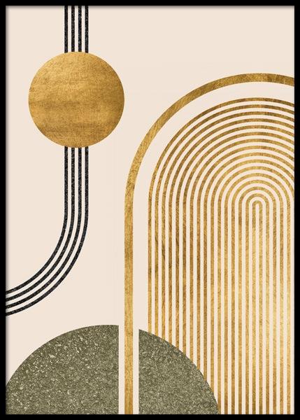 Green & Gold No1 Poster