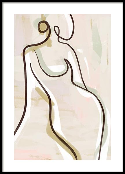 Pastel Figure No2 Poster
