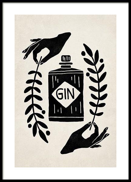 Let the Fun Be Gin Poster