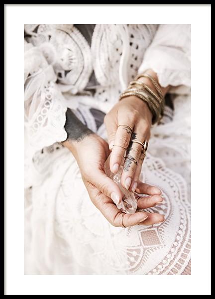 Bohemian Hands Poster