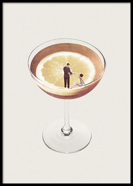 Lemon Cocktail Poster