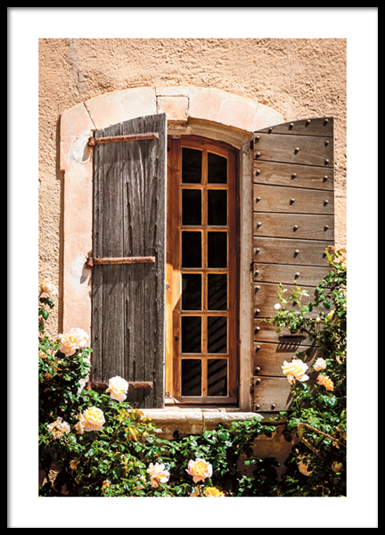Window in Provence Poster
