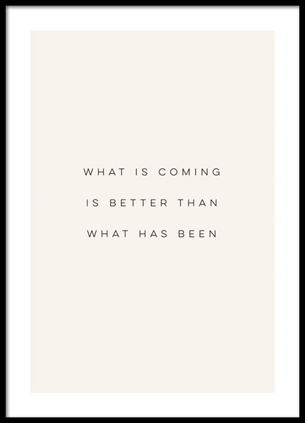 What is Coming Poster