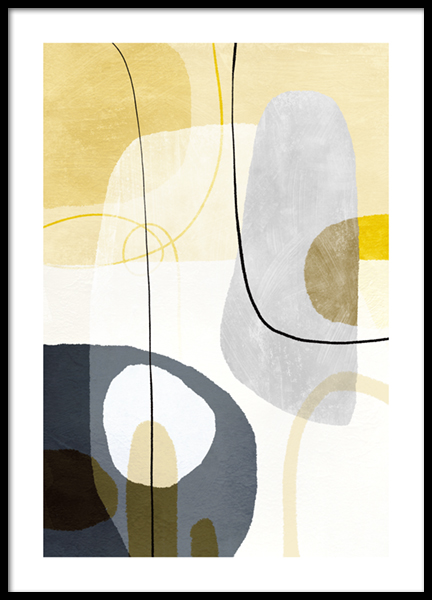 Yellow Touch Graphic No2 Poster