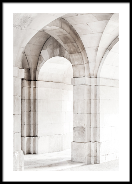 Ivory Arches Poster