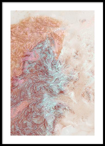 Shimmering Pastels No1 Poster