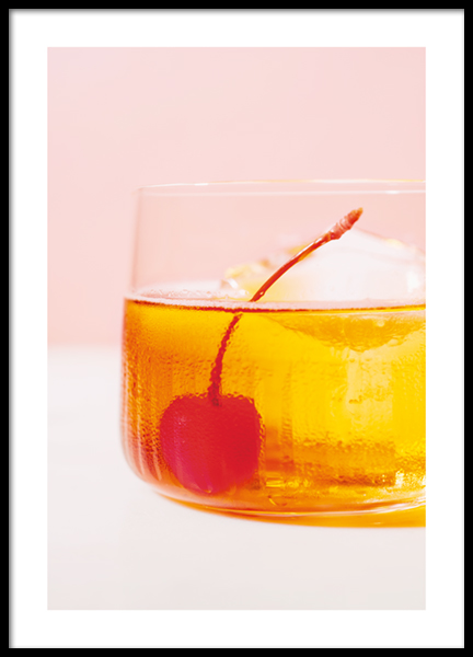 Old Fashioned Drink Poster