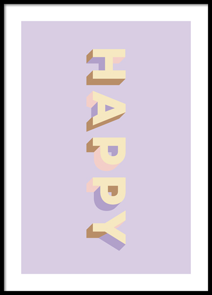 Happy Colors Poster