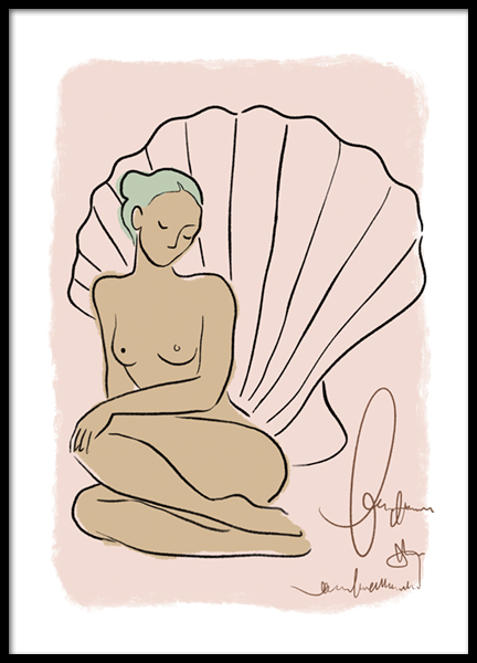 Seashell Woman Poster
