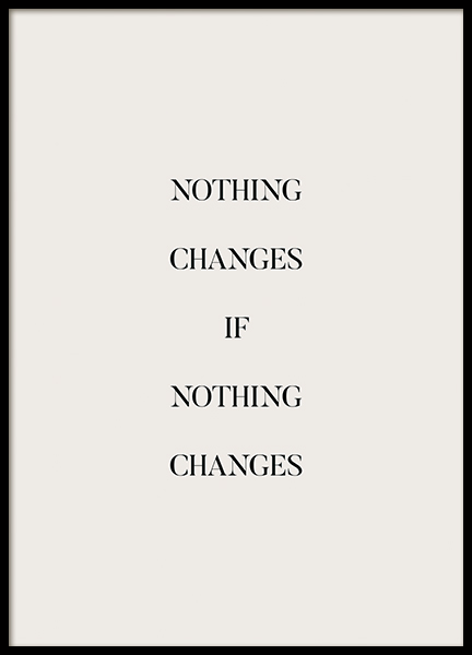 If Nothing Changes Poster