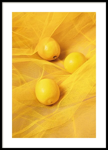 Tulle and Lemons Poster