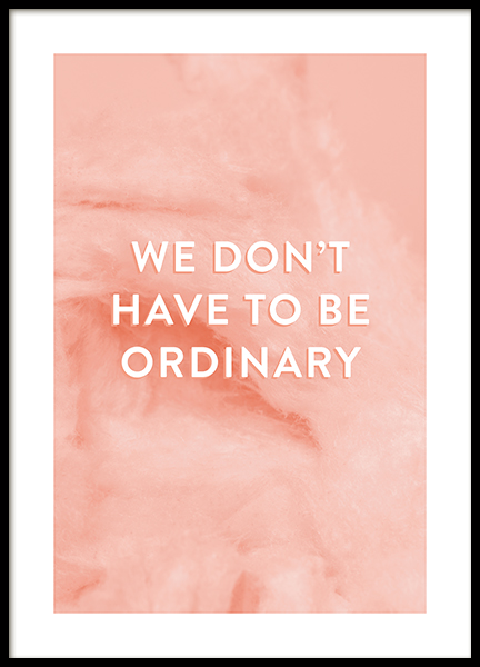 Not Ordinary Poster