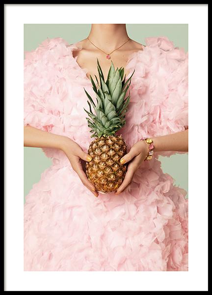 Fashion Pineapple Poster