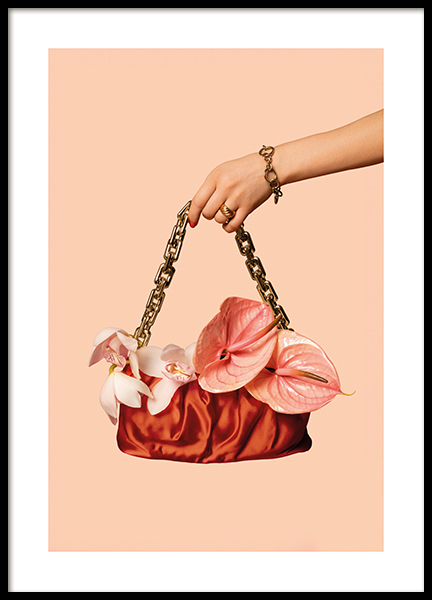 Bag With Flowers Poster
