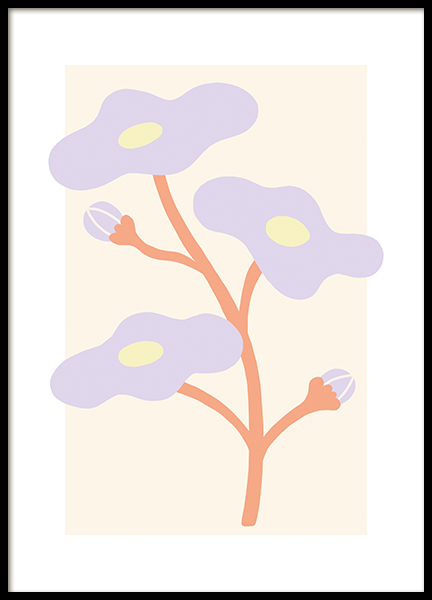 Lilac Flower Poster
