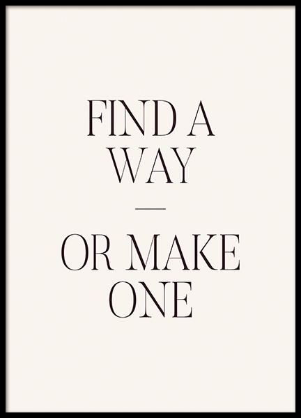 Find a Way Poster