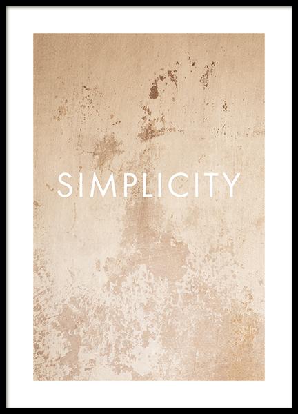 Simplicity in Concrete Poster