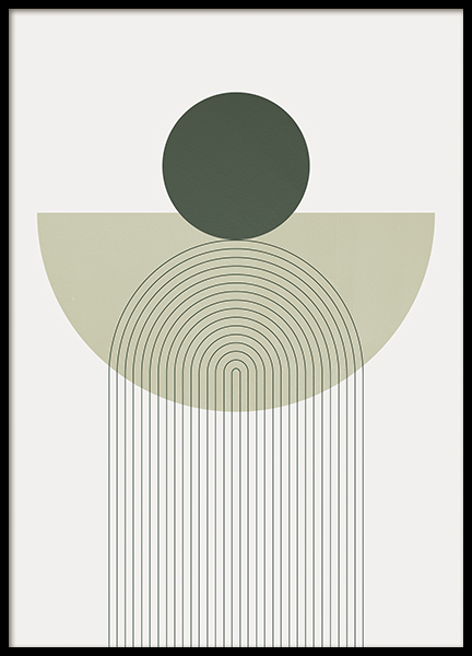 Geometry in Green Poster