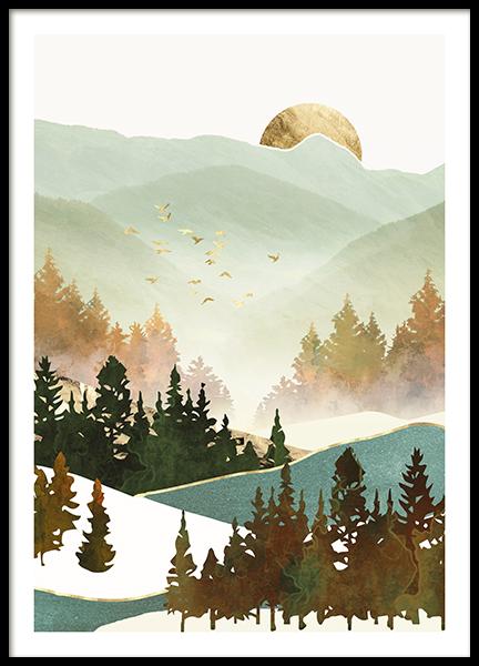 Fall Morning Poster
