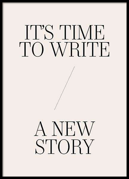 A New Story Poster