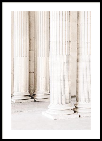 Majestic Pillars Poster