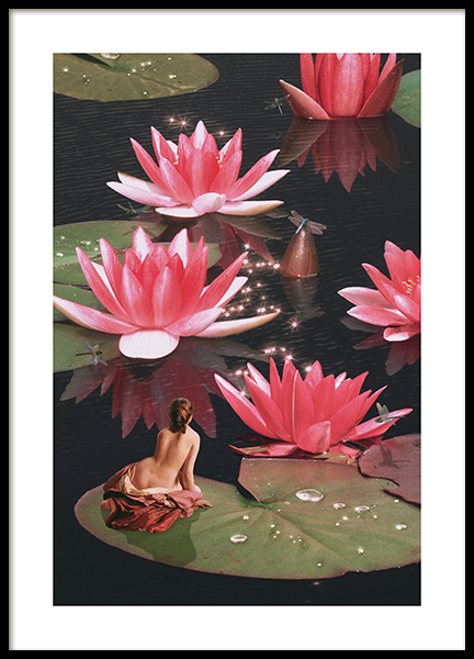 Water Lily Nymph Poster