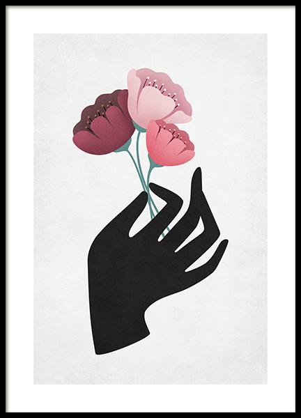 Mystic Florals Poster