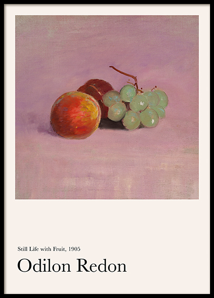 Odilon Redon - Still Life with Fruit Poster