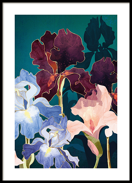 Iris Abstract Poster
