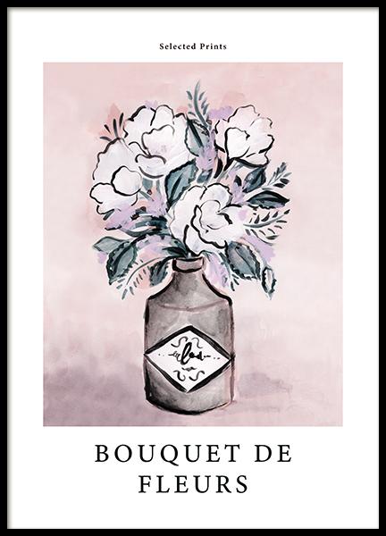 Painted Bouquet de Fleurs No2 Poster