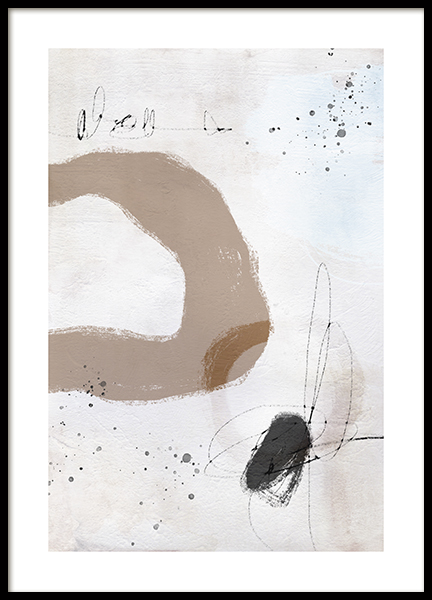 Abstract Scribbles No1 Poster