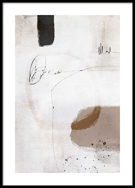 Abstract Scribbles No2 Poster