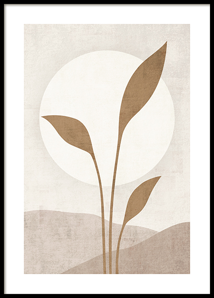 Beige Solar Poster