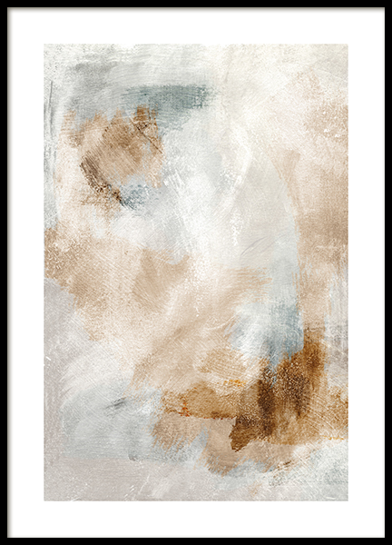 Contemporary Brushes Poster