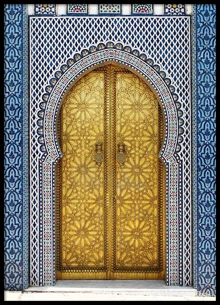 Gold Door Poster in the group Posters & Prints / Photography at Desenio AB (2014)