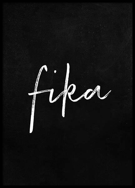 Fika Poster in the group Posters & Prints / Text posters at Desenio AB (2016)
