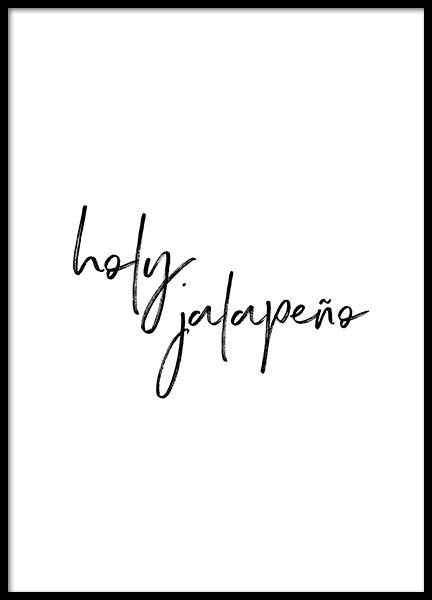 Holy Jalapeño Poster in the group Posters & Prints / Typography & quotes at Desenio AB (2017)