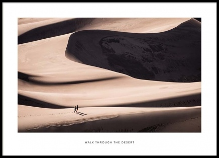 Walk Through The Desert Poster in the group Posters & Prints / Photography at Desenio AB (2024)