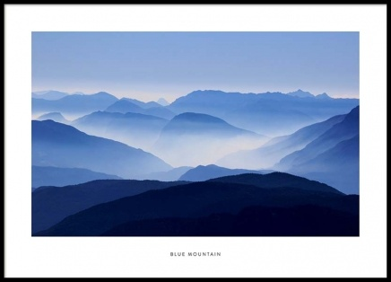Blue Mountain Poster in the group Posters & Prints / Nature at Desenio AB (2026)