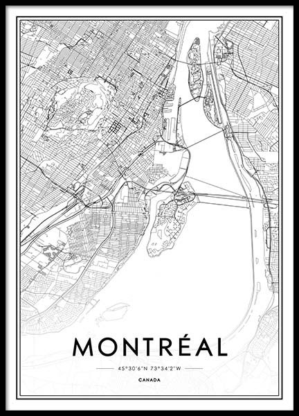 Montreal Poster in the group Posters & Prints / Black & white at Desenio AB (2043)