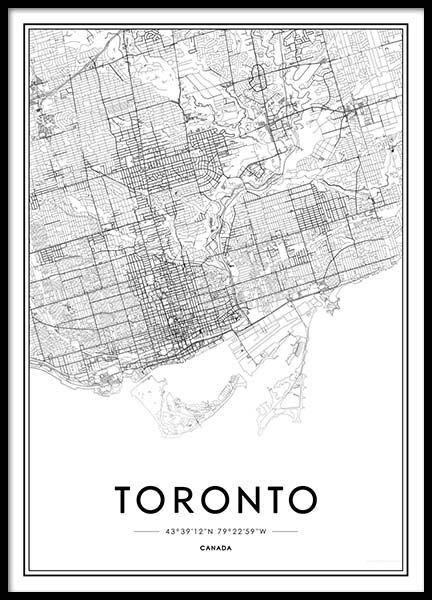 Toronto Poster in the group Posters & Prints / Maps & cities at Desenio AB (2045)