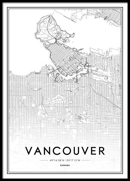 Vancouver Poster in the group Posters & Prints / Black & white at Desenio AB (2046)